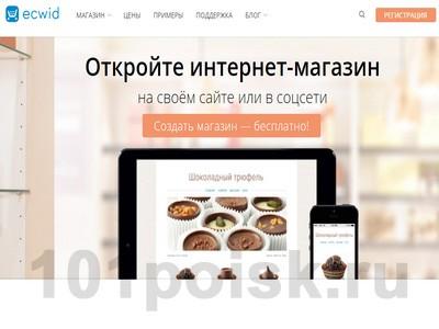Конструктор интернет-магазинов Ecwid отзывы